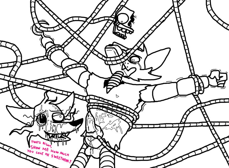 foxy mangle x fnaf comic Kaguya love is war