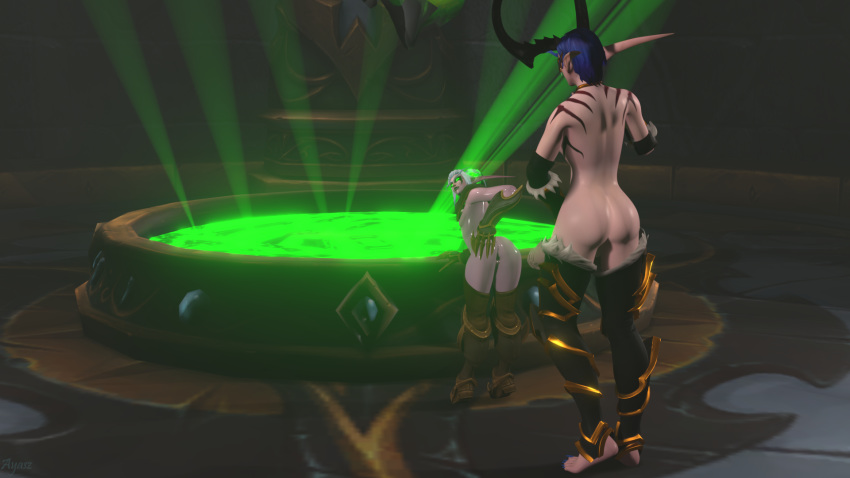female blood hunter demon elf Merlin seven deadly sins naked